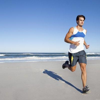 Running in the morning light