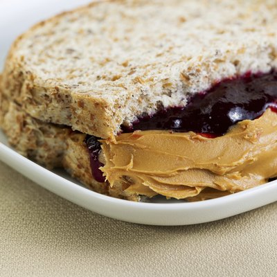 Tasty Creamy Peanut Butter and Jelly Sandwich