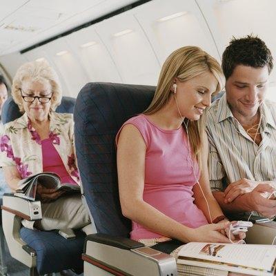 Passengers Sitting on a Plane