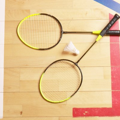 Badminton rackets and birdie