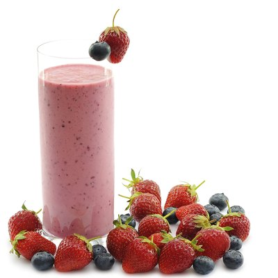 Smoothie with strawberries