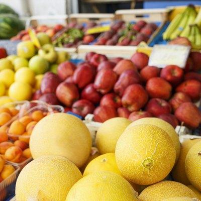 Fresh ripe fruit at the market