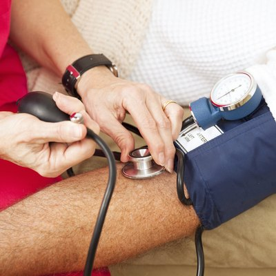 Testing Blood Pressure - Closeup