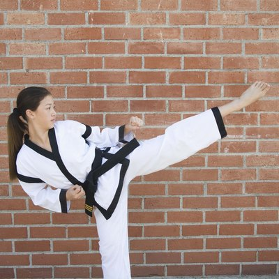 Girl doing martial arts