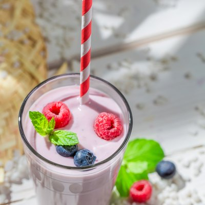Yummy smoothie with berry fruits