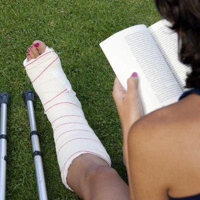 Reading with a broken leg