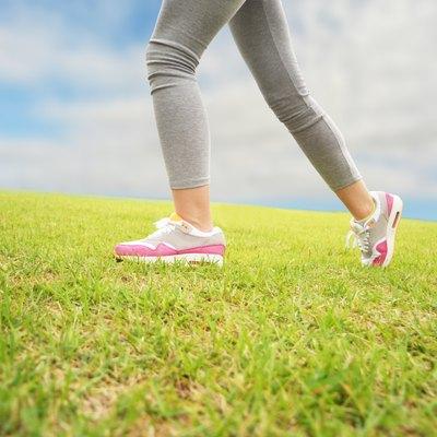 Closeup of woman legs