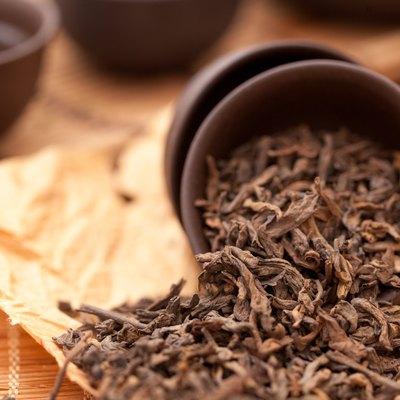 Cup of fresh green tea