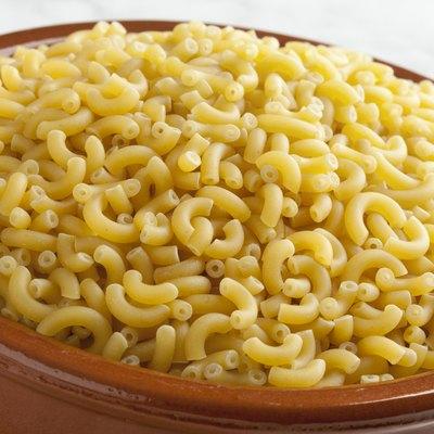 Italian macaroni in a dish