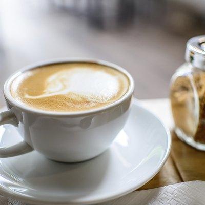 Coffee mug with brown sugar