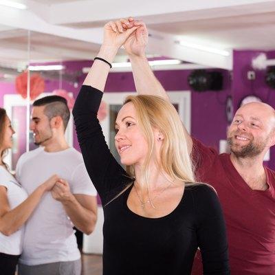 people having dancing class