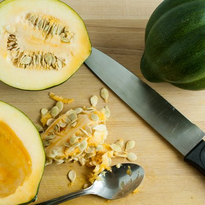 Acorn Squash on a Cutting Board