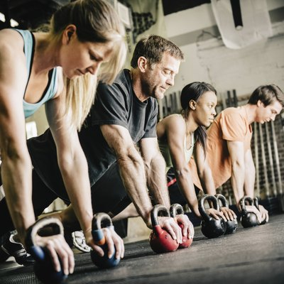 CrossFit Training Push Ups