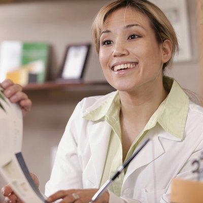 Pharmacist helping customer