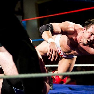 Wrestler landing