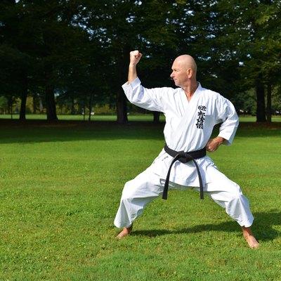 Performing karate in nature