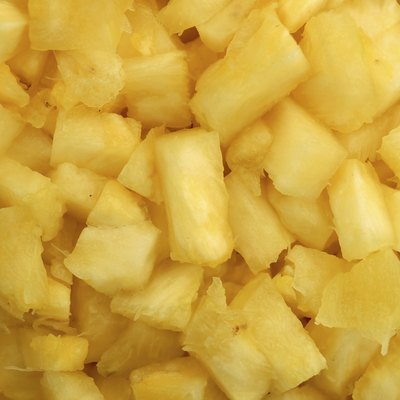Close up of pineapple chunks