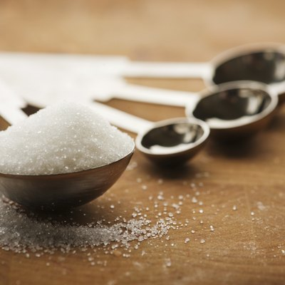 Tablespoon filled with granulated sugar