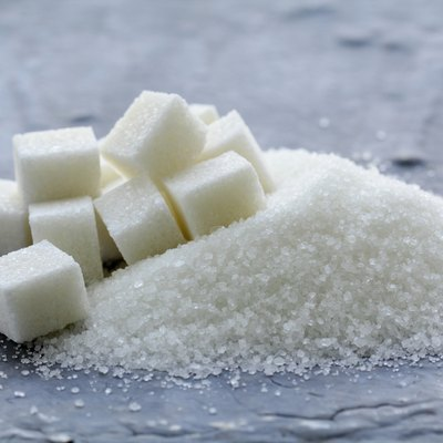 Several types of sugar - refined  and granulated