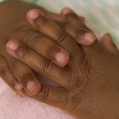 Beautiful baby hands