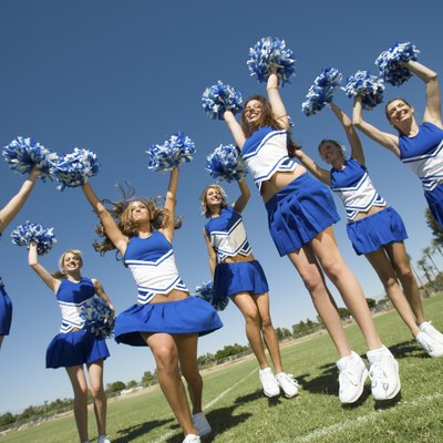 Cheerleading Squad Performing Cheer