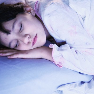 portrait of young girl asleep