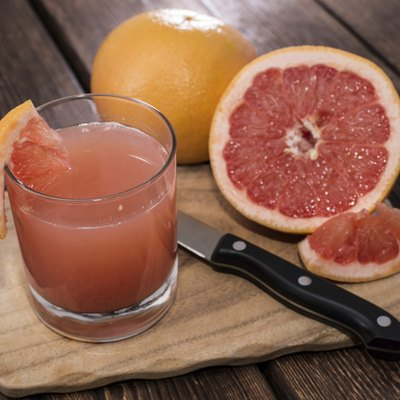 Portion of Grapefruit Juice