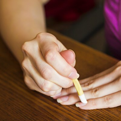 Cuticle treatment fingers the stick cuticle in the home