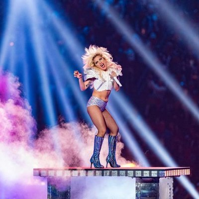 HOUSTON, TX - FEBRUARY 05: Musician Lady Gaga performs onstage during the Pepsi Zero Sugar Super Bowl LI Halftime Show at NRG Stadium on February 5, 2017, in Houston, Texas. (Photo by Christopher Polk/Getty Images)