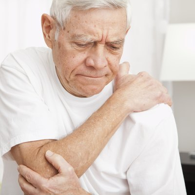 Senior man in pain