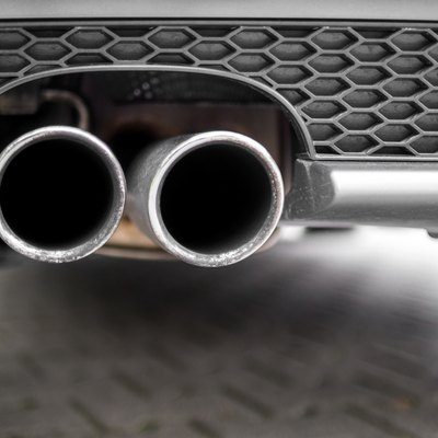 Close up of an exhaust