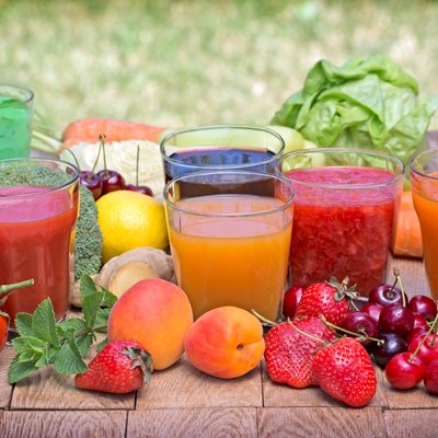 Healthy drinks freshly squeezed