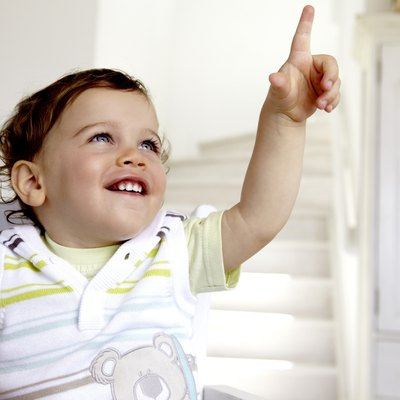 Baby Boy (12-23 months) pointing at something