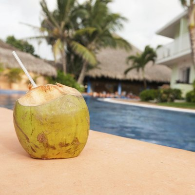 Coconut Drink Poolside