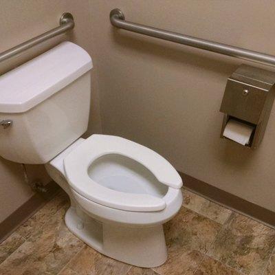 Wheelchair accessible Public restroom.