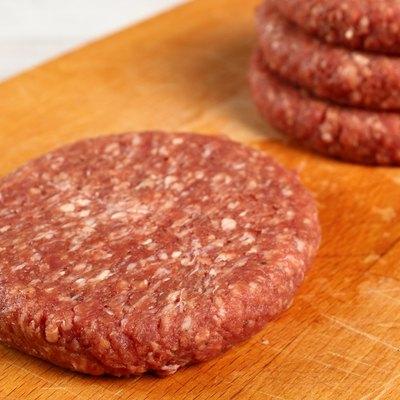 Raw Burger Beef Patty
