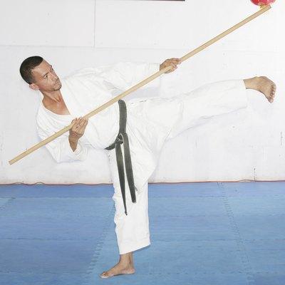 Man in shotokan karate
