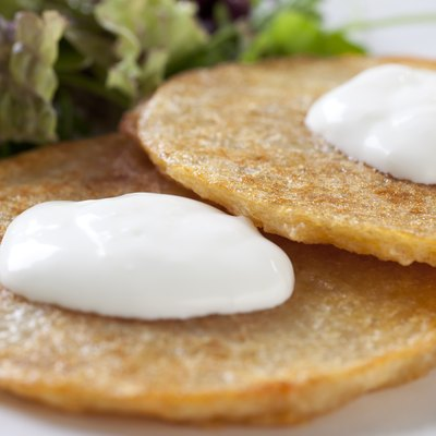 Potato Pancakes with Sour Cream