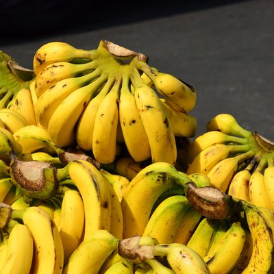 Bunch of bananas on basket