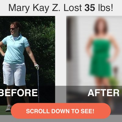 Mary Kay's before photo.