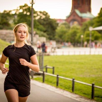 woman running, jogging