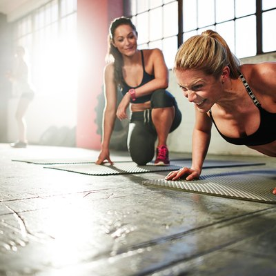 Motivation pushing a woman to work out harder