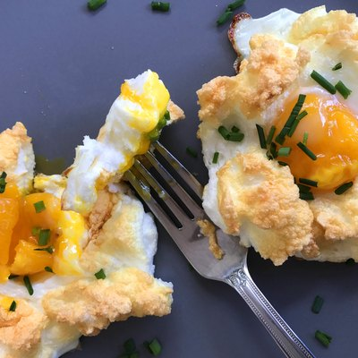 There's been a lot of buzz around the gorgeous breakfast dish called cloud eggs.