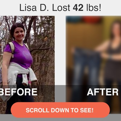 Lisa lost 42 pounds and dropped 5 sizes.