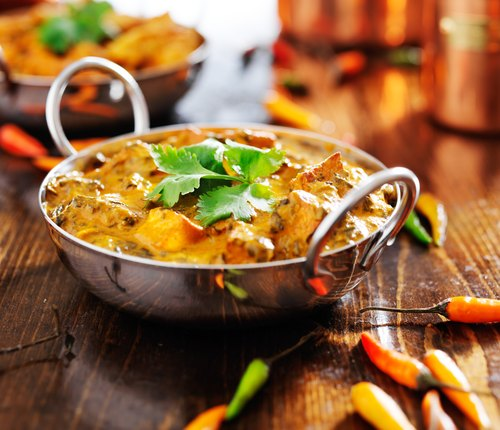 indian saag paneer curry