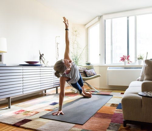 person doing rotational workout for healthy joints at home