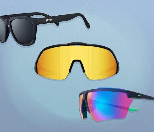 collage of best running sunglasses
