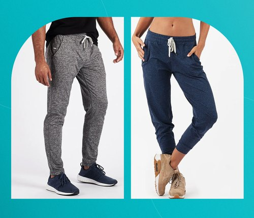 two examples of the best sweatpants