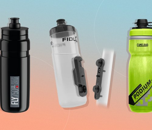 collage of best bike water bottles