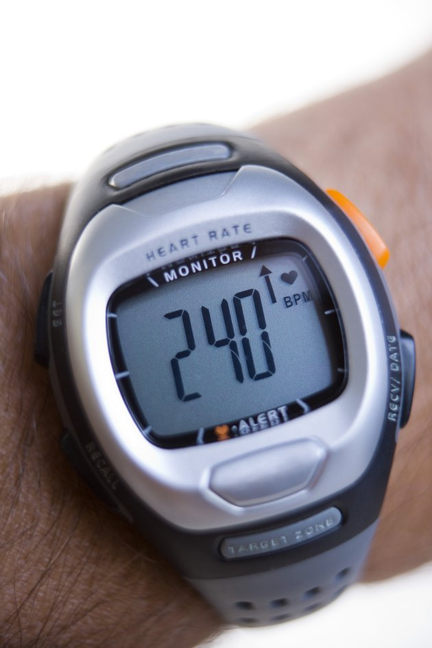 Heart rate monitor on wrist